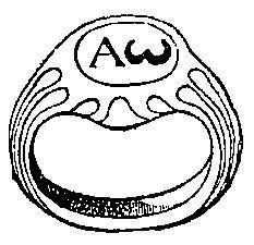 альфа, омега, древнехристианский перстень, греческий алфавит
