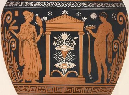 венок-корона, жертвы покойному в Древней Греции