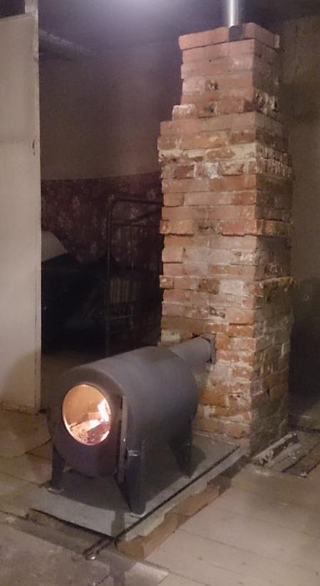 буржуйка и теплоемкий модуль