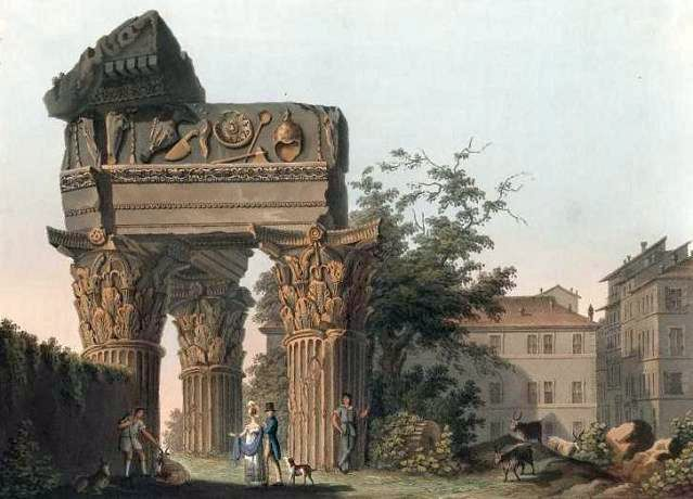 храм Юпитера Громовержца, храм Веспасиана и Тита