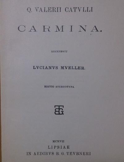 катулл титульный лист