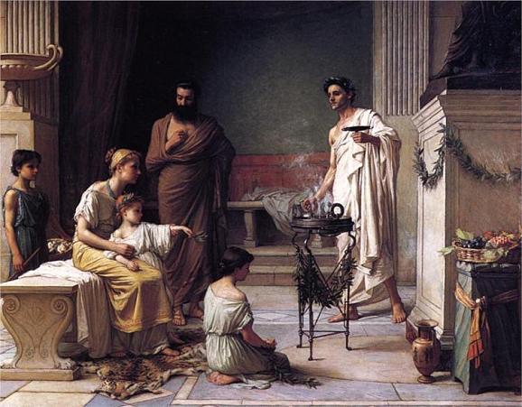 посещение храма бога Асклепия