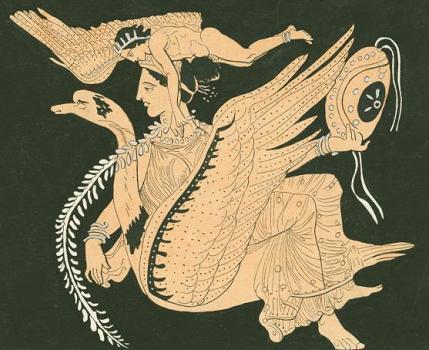 богиня Афродита на лебеде
