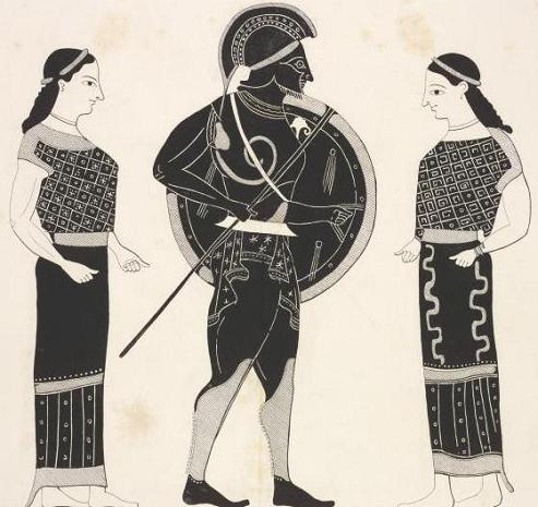 бог Арес между Харит
