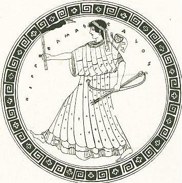 Артемида с факелом, килик
