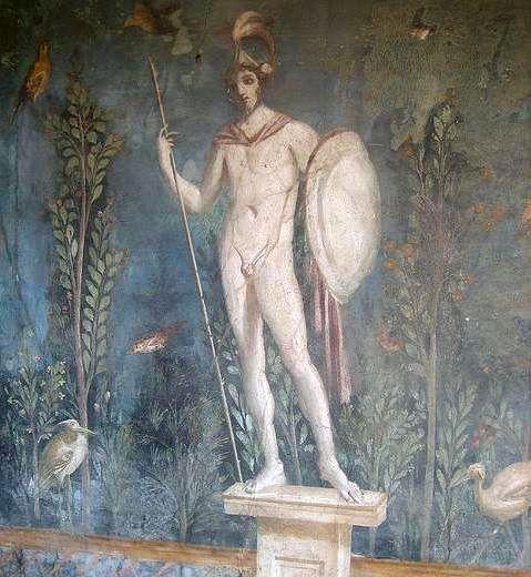 Бог Марс в Помпеях, бог Арес