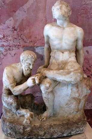 бог Пан и сатир