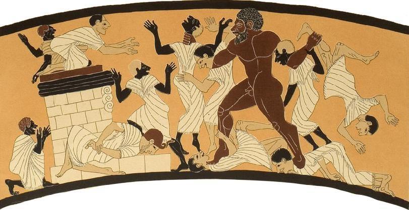 Геракл убивает Бусириса