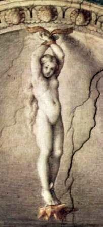 Корреджо, наказание Юноны, мифологическая фреска