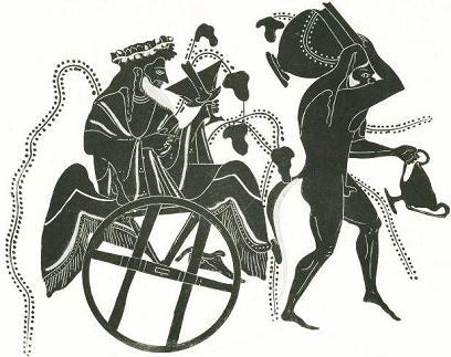 бог Дионис и сатир Ампелий