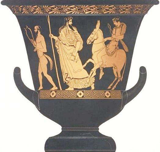 Дионис ведет Гефеста на Олимп