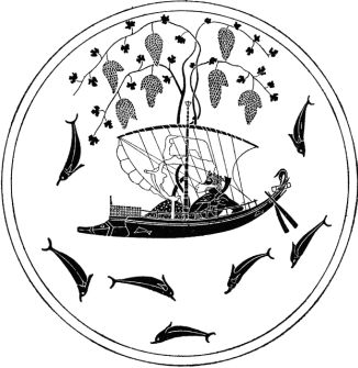 Дионис и пираты, античность