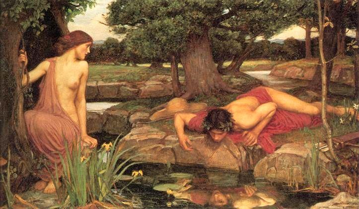 нимфа Эхо, Нарцисс, Уотерхаус