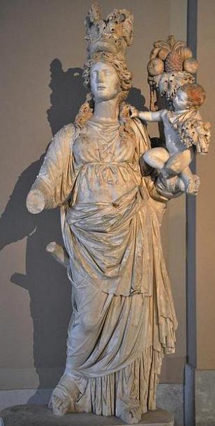 богиня Фортуна, Тиха, Тихэ, Тюхэ, Плутос, рог изобилия