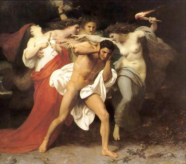 Фурии, Эринии, Орест, древнегреческий миф
