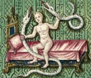 младенец Геракл душит змей