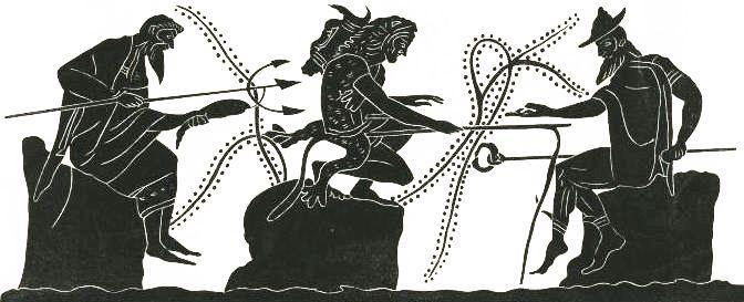 Геракл ловит рыбу
