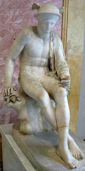 бог Гермес-Меркурий с черепахой