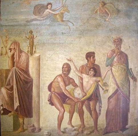 Ифигения, жертвоприношение, Агамемнон, Калхант, Калхас, Тиманф, древнегреческий миф