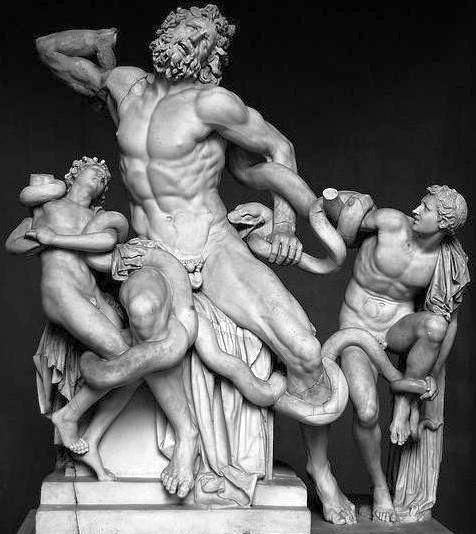миф о Лаокооне, скульптура