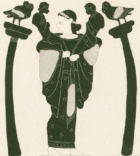 Богиня Латона с детьми