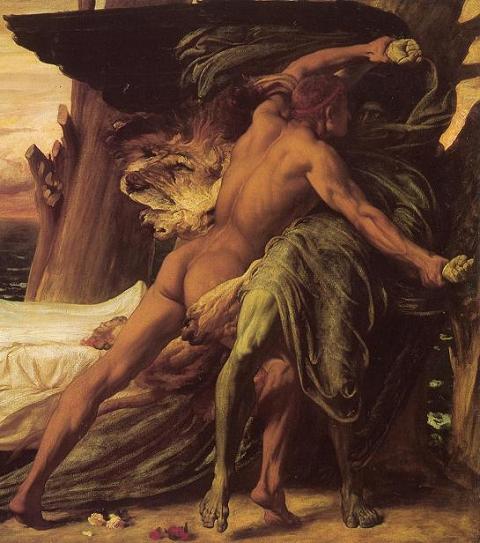 Геракл и бог смерти, фрагмент картины Лейтона