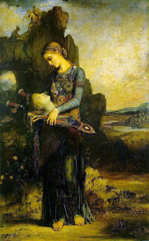 вакханка и голова Орфея