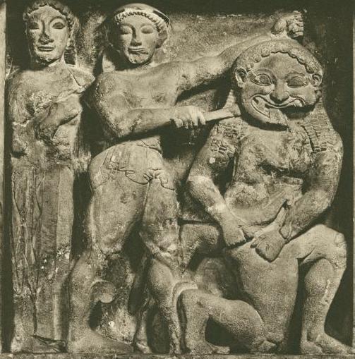 Персей и Медуза Горгона, метопа