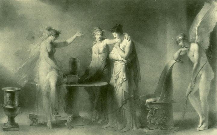 сестры Психеи, Психея и Купидон
