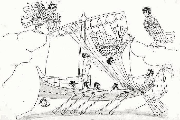 Одиссей слушает пение Сирен