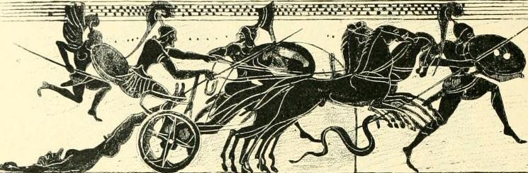 Ахиллес тащит тело Гектора