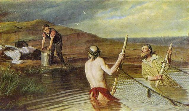 рыбаки, священник, дьякон, семинарист